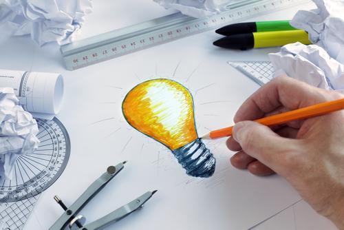 Image of lightbulb sketch