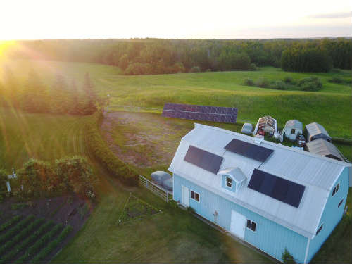 Solar Panels Edmonton - Ground Mounted