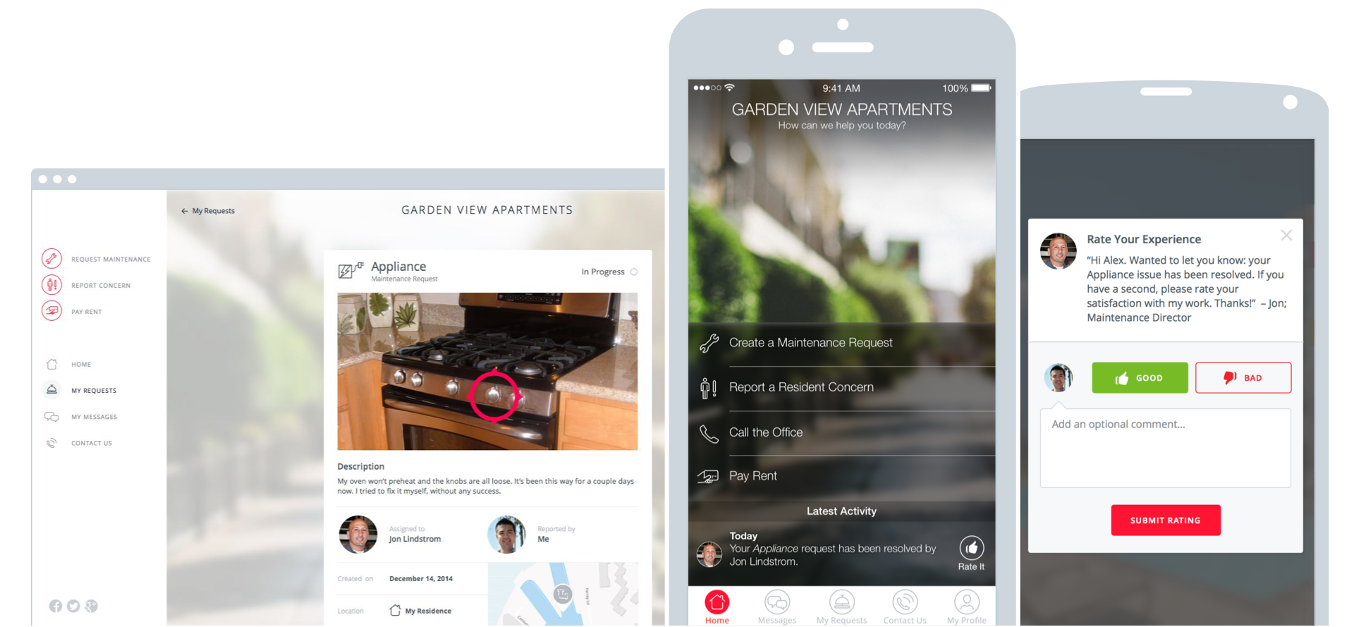 Connect with Residents on any device at any time
