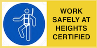 Work safely at heights certified