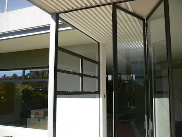 glass doors looking super clean