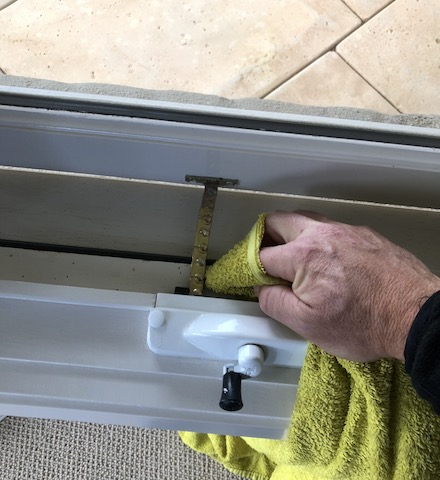 we clean the sills of awning windows