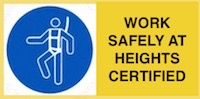 Safe working at heights certified, Sydney.