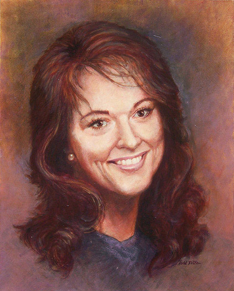 Libby Portrait oil on canvas image
