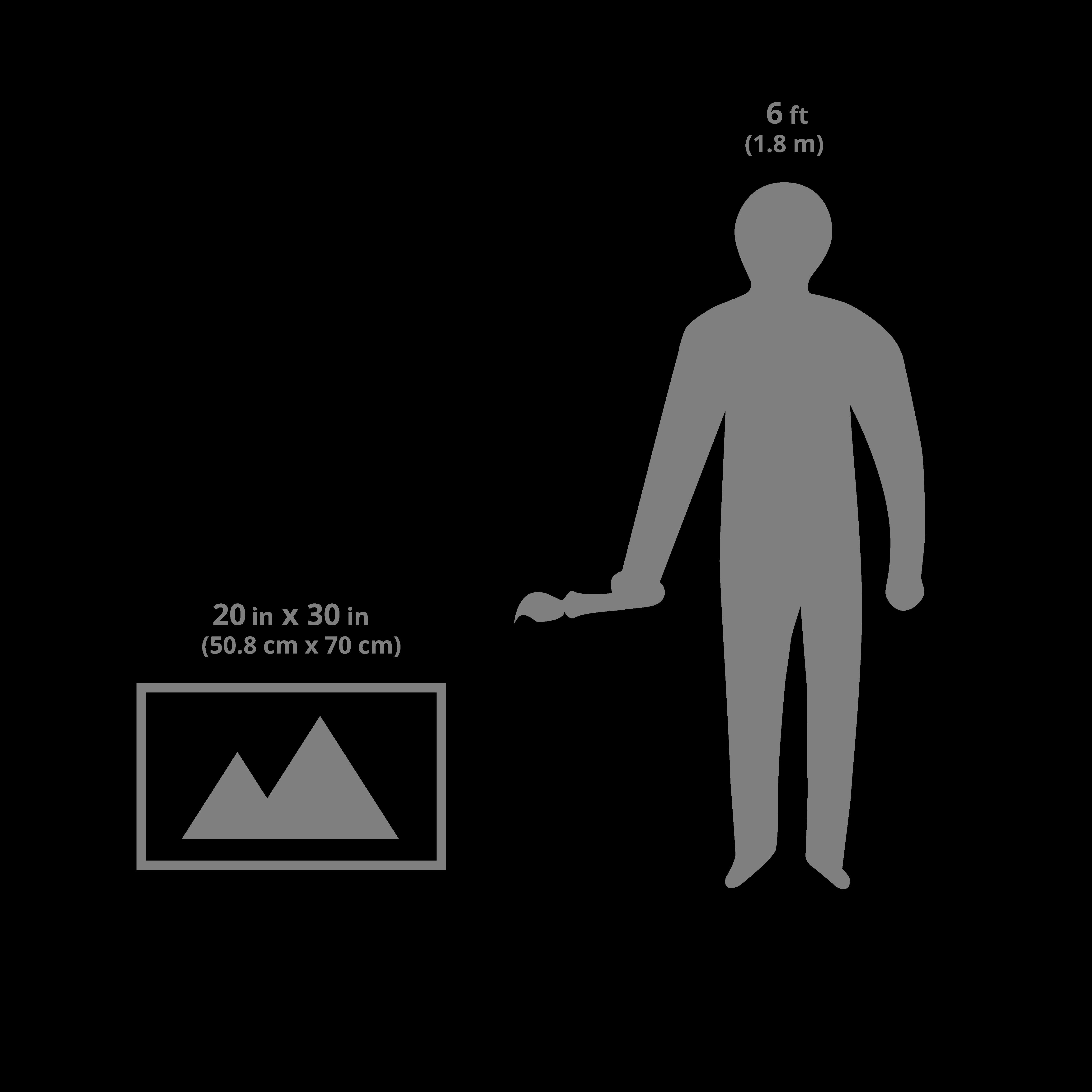 20x30 art sizing scale image