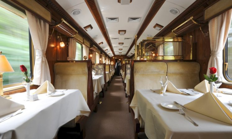 Luxury Hiram Bingham Train Dining Car