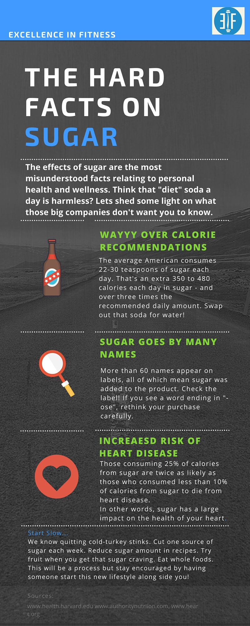 Effects Of Sugar On The Body  Excellence In Fitness Sugar Facts Infographic
