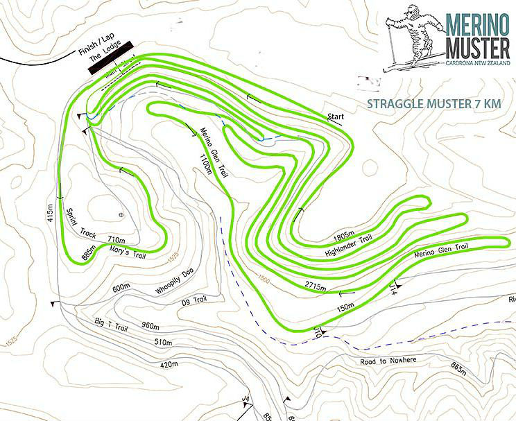 42km Trail Map Merino Muster