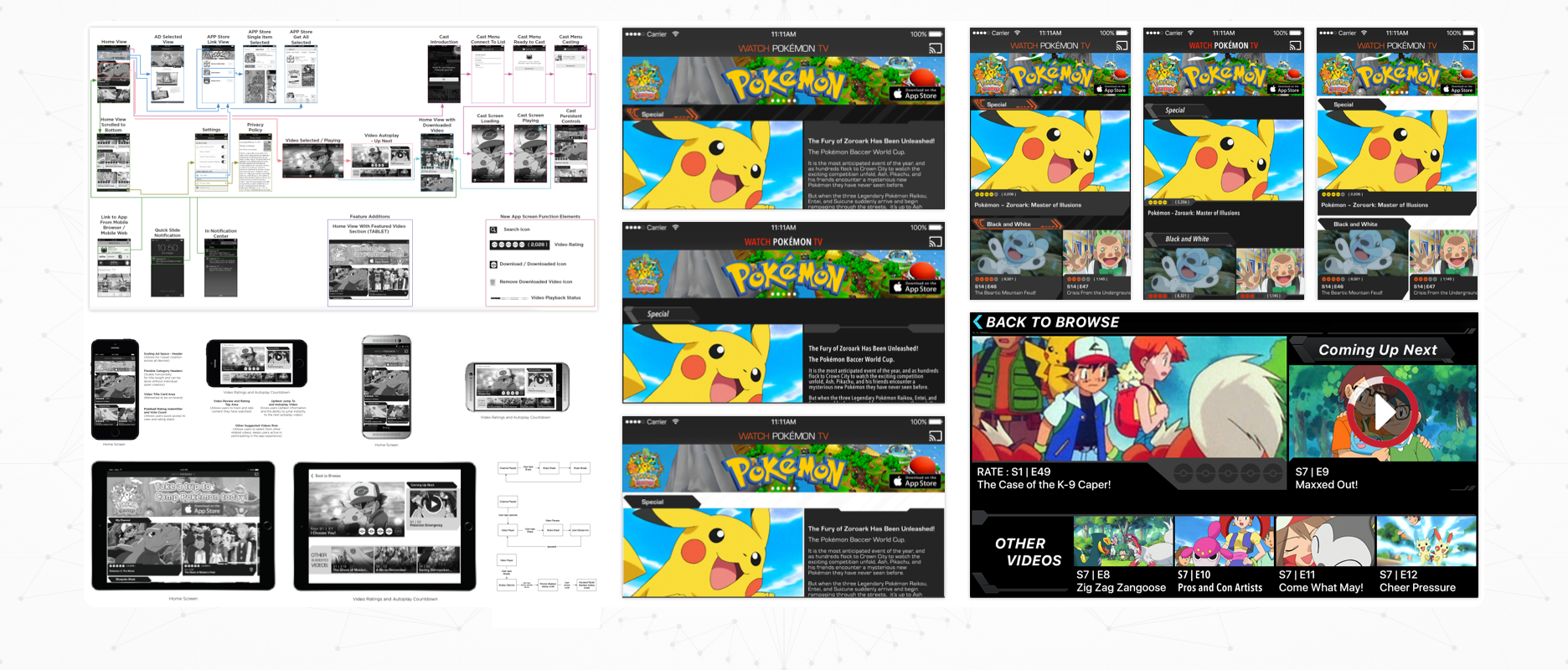 Pokémon TV - Case Study Image - Tablet and Handset Designs