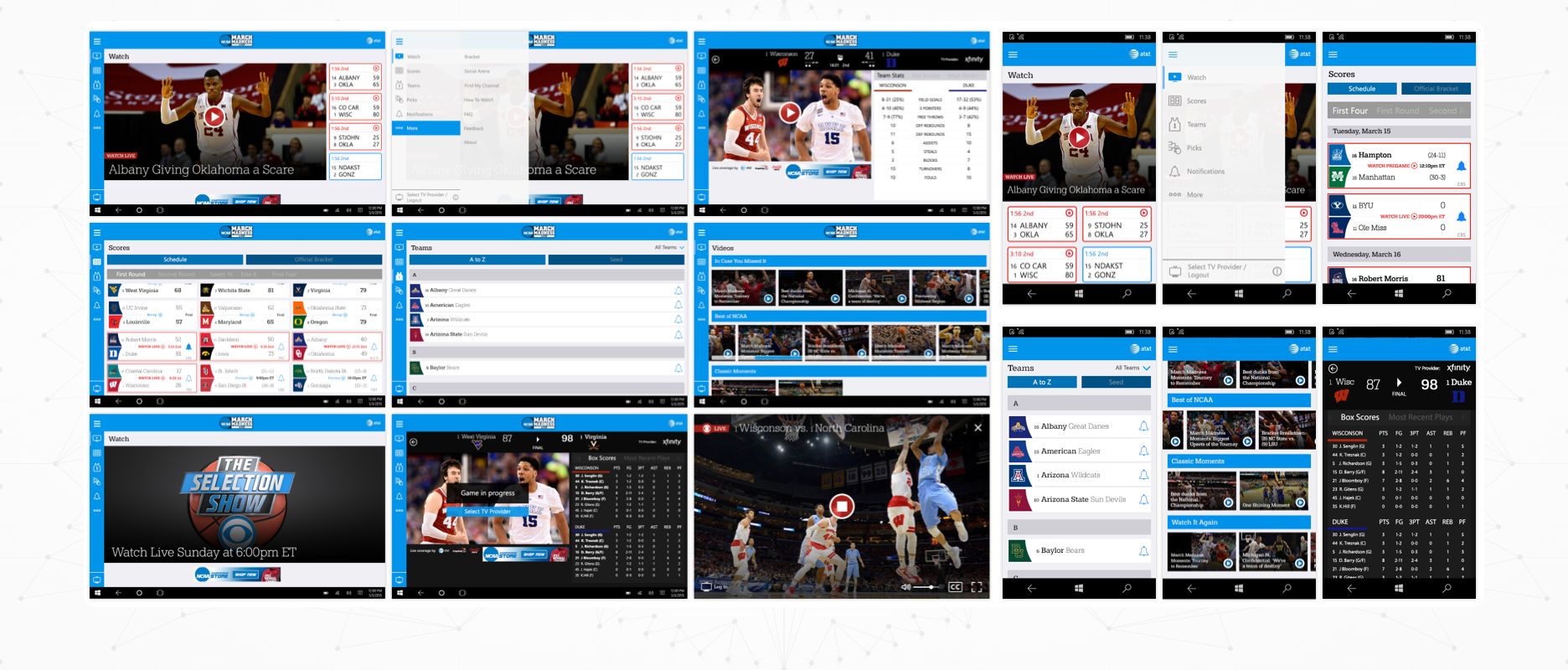 March Madness Live- Case Study Image - Designs