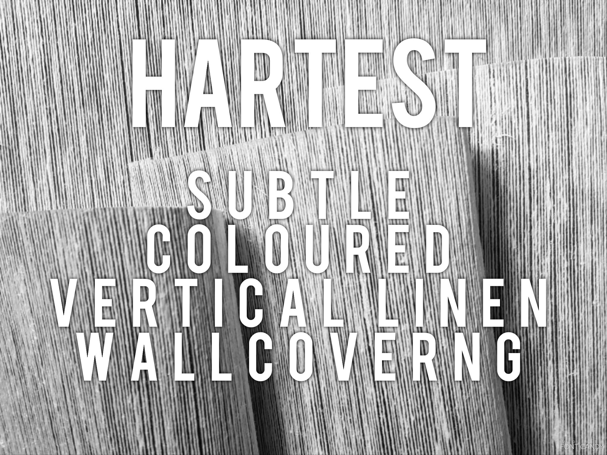 Hartest - Subtle coloured vertical linen wallcovering