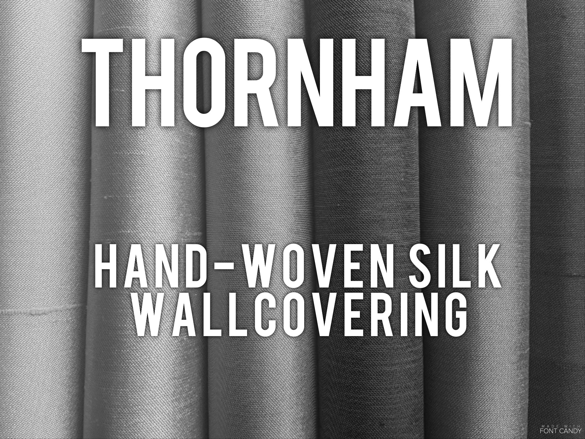 Thornham - Hand-woven silk wallcovering