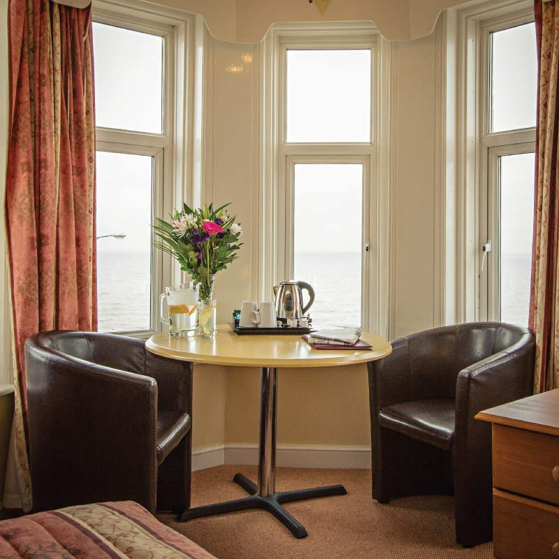 A seaview room at the Cliftonville Hotel, Cromer, Norfolk