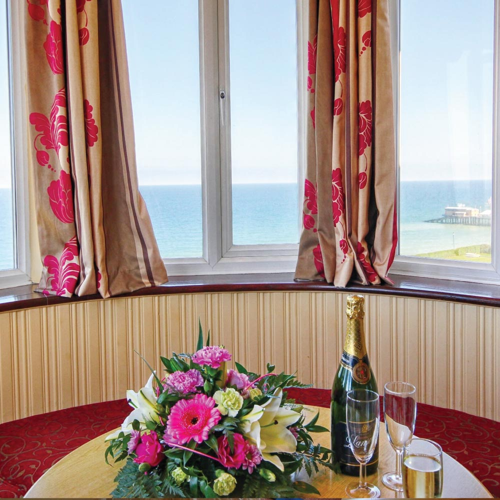 Room with seaviews at the Cliftonville Hotel, Cromer, Norfolk