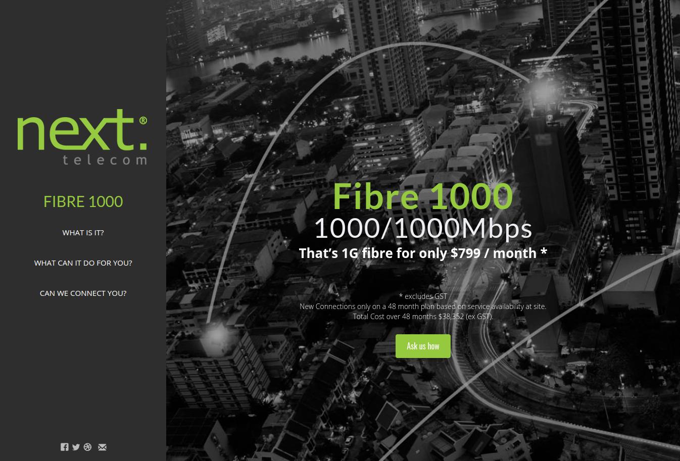 Next Telecom FIbre 1000 site