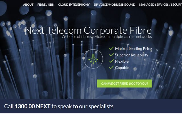 Telco website designed and hosted by Maximus Consulting