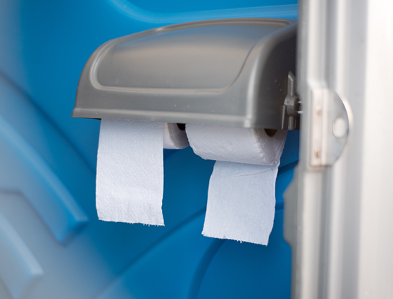 Toilet paper replenishment for your mains hire toilet