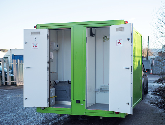 Welfare units with toilets for use on sites and in factories