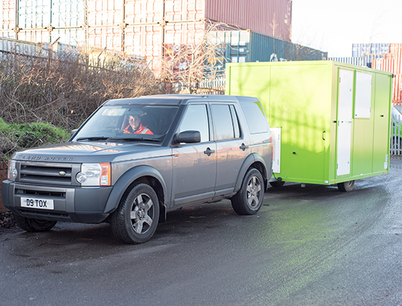 Welfare units can be moved from site to site