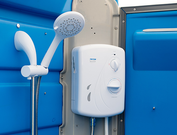 Electric site showers for hire