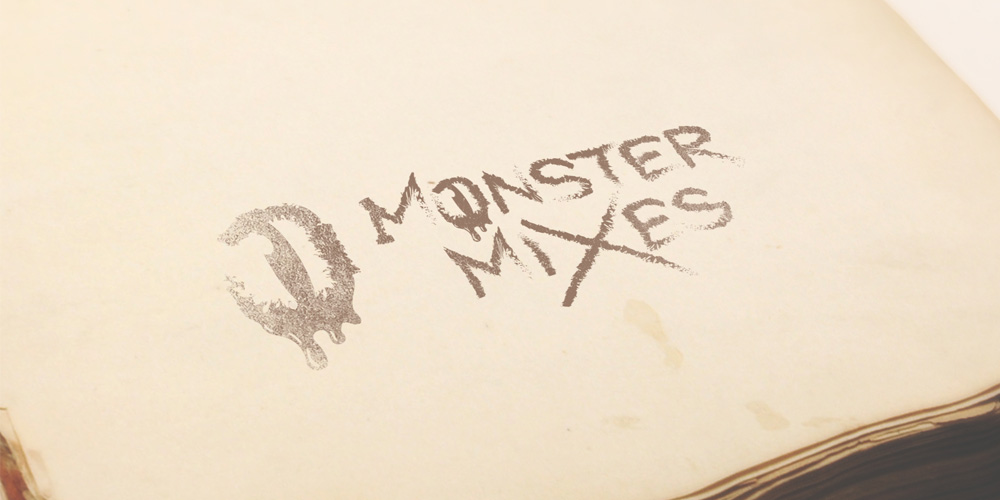 E-juice logo mockup for Monster Mixes