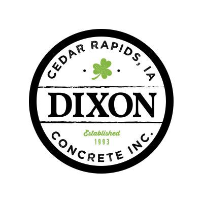Concrete company circular vintage style logo design and branding