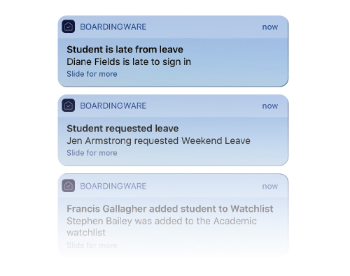 student tracking notifications