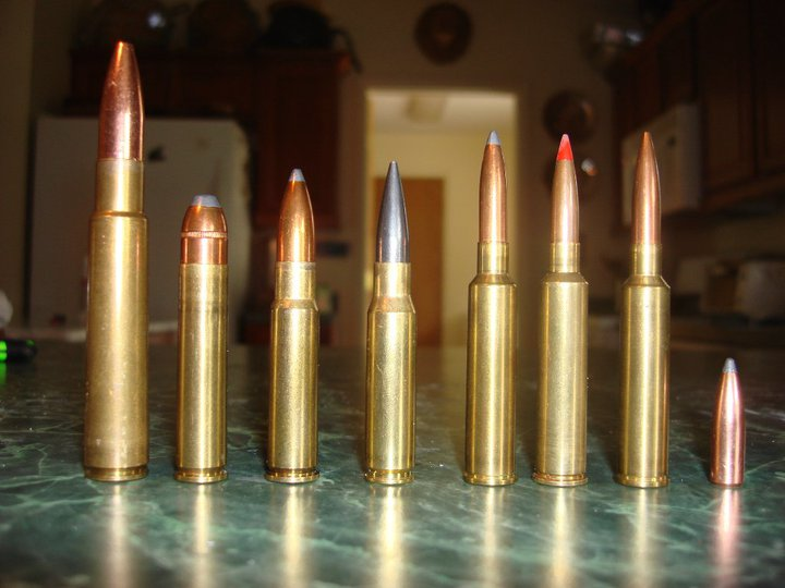 Photo of my custom made rounds in various calibers