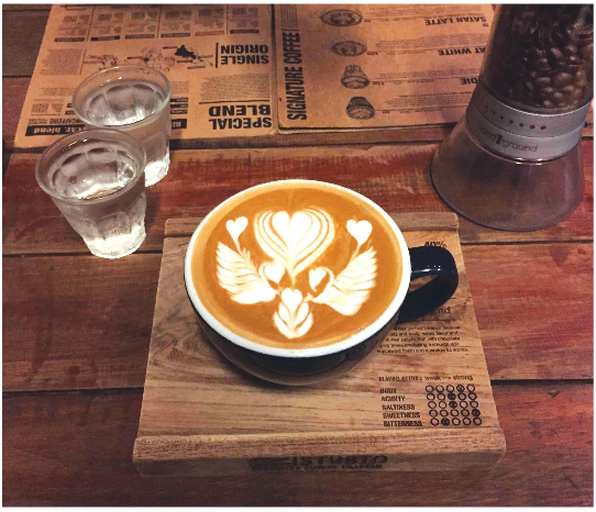 Latte art from Chiang Mai, Thailand