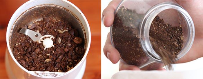 inconsistent grinds in a blade grinder and consistent grind from a burr grinder