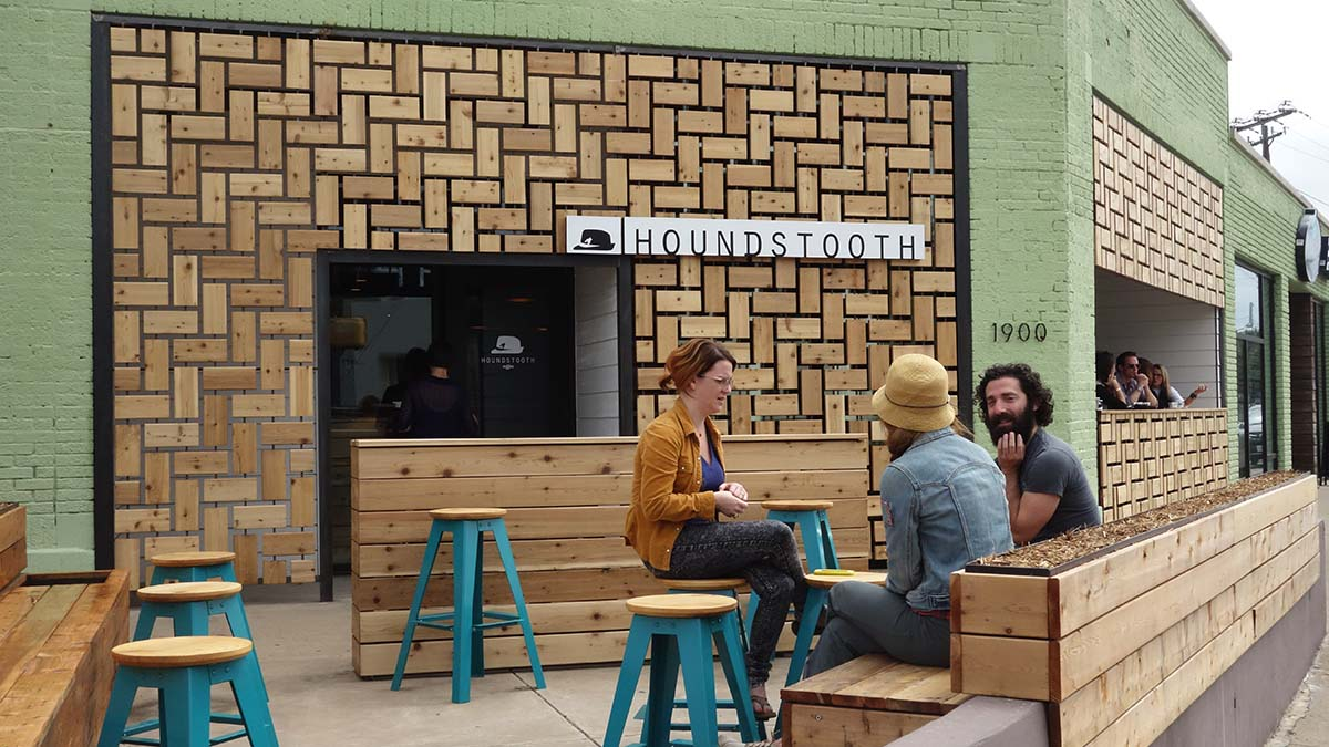Houndstooth coffee in Dallas, Texas