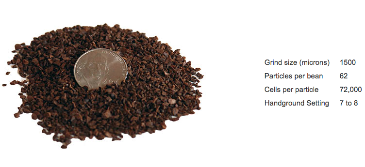 French Press coffee grind size