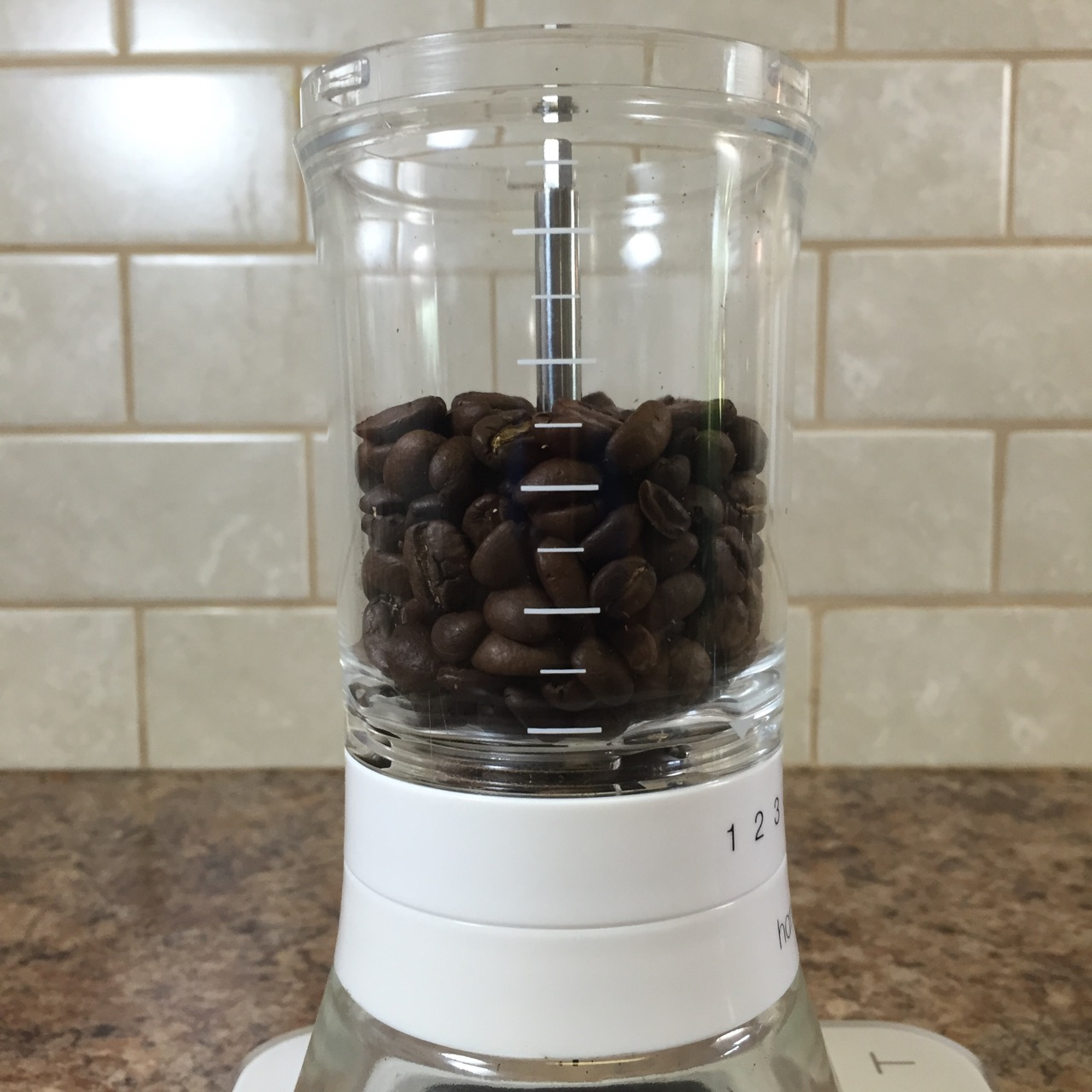 Measure coffee for french press