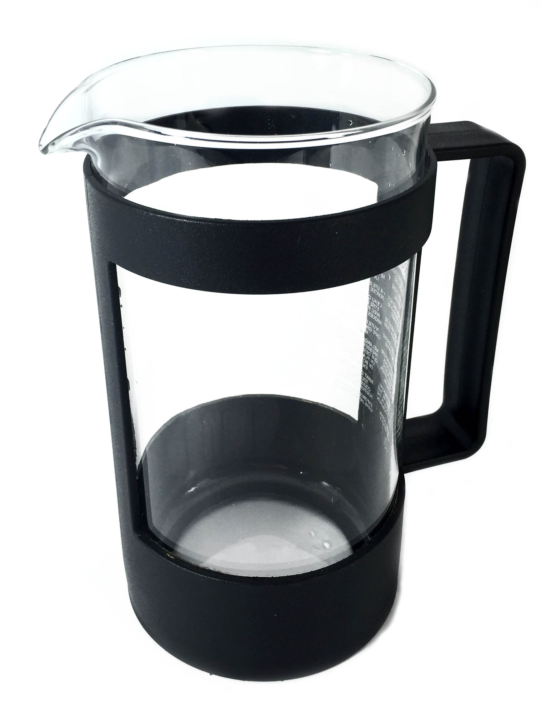 French press glass beaker and body
