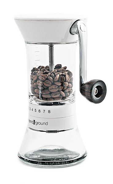 Handground Coffee Grinder in White