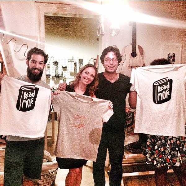 Meetup grubu ile serigrafi tişört baskıları