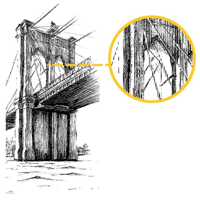 halftone köprü örneği