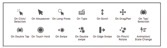 Trigger events icons