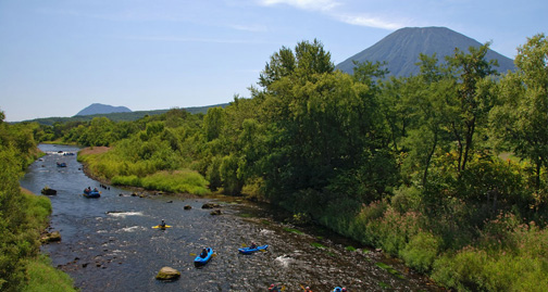 river kayaking in Niseko