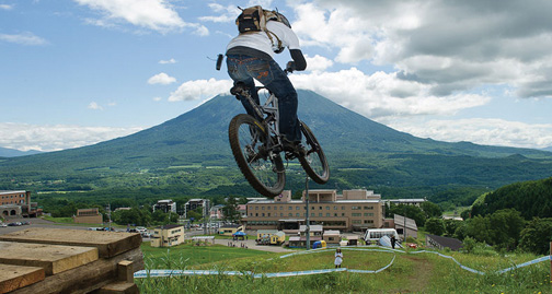 mountainbiker at Niseko United