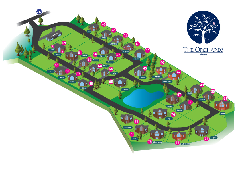 Orchards Guest map