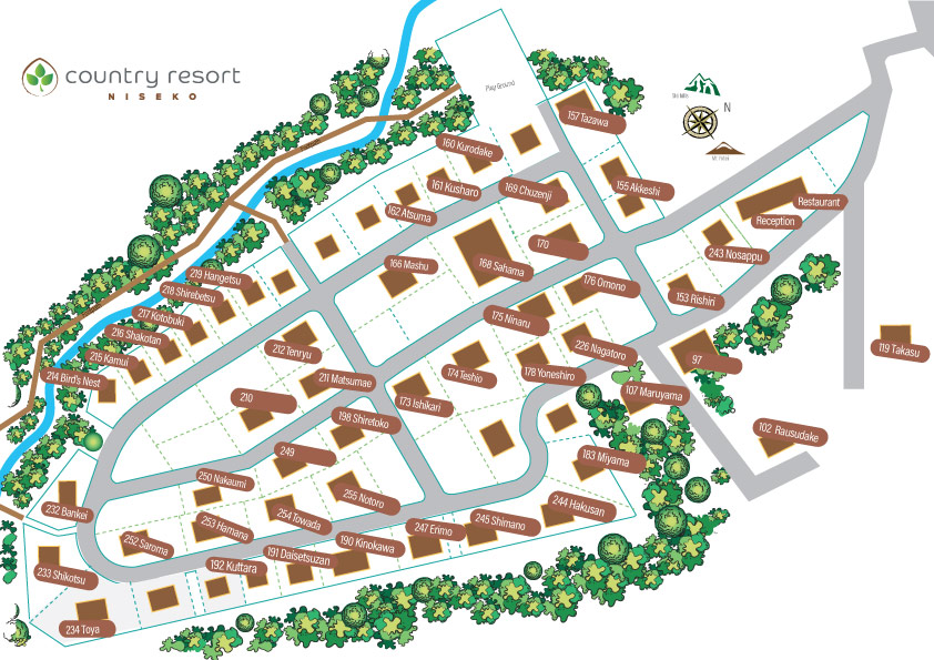Country Resort Chalet map