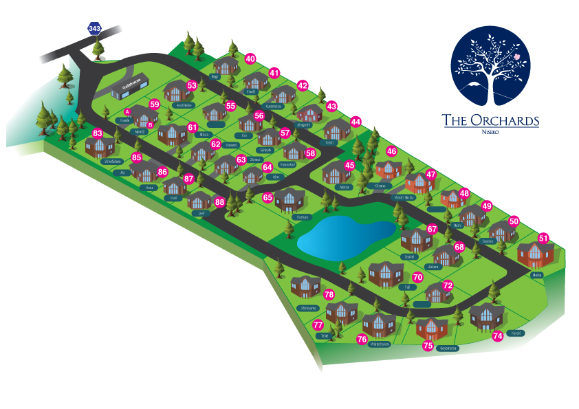 The Orchards Resort Map