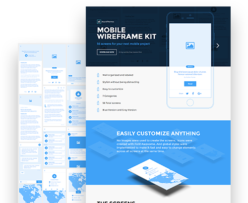 Axure Mobile Wireframe Kit