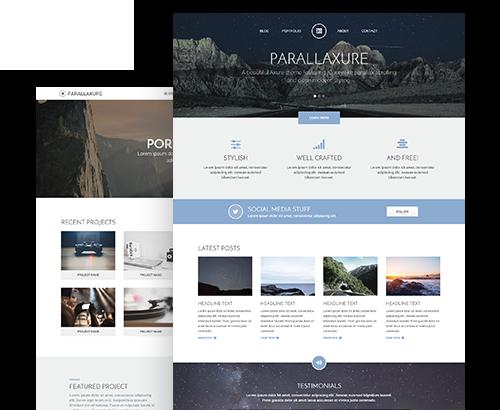 Parallaxure Axure Desktop Templates
