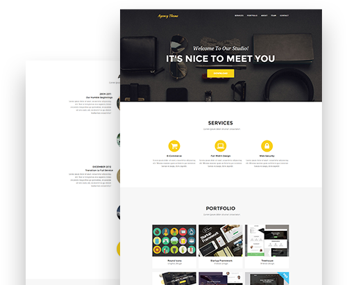 Agency Axure One Page Desktop Template