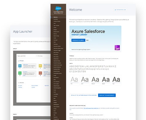 Axure Salesforce Widget Library Preview
