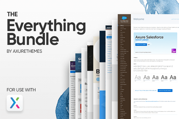 The Everything Bundle Axure Preview Image
