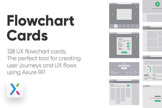 Axure UX Flowchart Cards