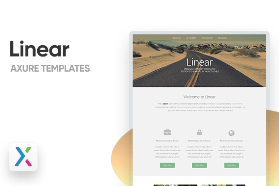 Linear 4 Page Axure Templates